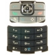 Nokia N80 Keypad Set Mat Zwart/ Zilver