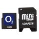 O2 Geheugenkaart MiniSD 512 MB