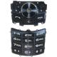 Samsung J700 Keypad Set Latin Zilver/Zwart