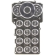 Sony Ericsson W980 Keypad Latin Zwart