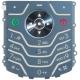 Motorola L6 Keypad Licht Blauw