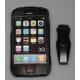 Leder Beschermtasje Zwart met Swivel Riem Clip voor iPhone 3G/3GS