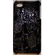 Hard Case Krokodil Design Zwart voor Apple iPhone 4/ 4S