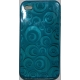 TPU Silicon Case Circle Design Blauw voor Apple iPhone 4
