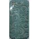 TPU Silicon Case Circle Design Licht Blauw voor Apple iPhone 4