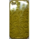 TPU Silicon Case Circle Design Geel voor Apple iPhone 4