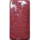 TPU Silicon Case Circle Design Pink voor Apple iPhone 4