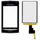 Sony Ericsson Xperia X8 Frontcover Zwart incl. Touch Unit