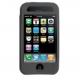 Silicon Case Zwart met Display Folie voor Apple iPhone 3G/ 3GS