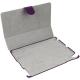 Leder Beschermtas Flip Carbon Design Paars voor Apple iPad2/ iPad3/ iPad4