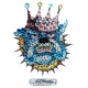 Ed Hardy Crystal Decal Sticker Mini King Dog