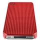 Hard Case Electro Chroom Cube Rood voor Apple iPhone 4