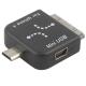 Mini USB Converter Adapter Zwart voor Apple/ BlackBerry/ Samsung