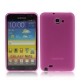 TPU Silicon Case Transparant Mat Hot Pink voor Samsung N7000 Galaxy Note