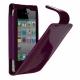 Cygnett Leder Beschermtasje Glam Patent Paars voor iPhone 4/ 4S