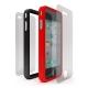 Cygnett Snaps Duo Silicone Frames (Set) Zwart en Rood voor iPhone 4
