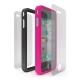 Cygnett Snaps Duo Silicone Frames (Set) Zwart en Roze voor iPhone 4