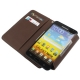 Leder Beschermtasje Book Zwart voor Samsung N7000 Galaxy Note