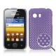 Hard Case Perforated Mesh Paars voor Samsung S5360 Galaxy Y