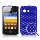 Hard Case Perforated Mesh Blauw voor Samsung S5360 Galaxy Y