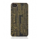Skech Hard Case Canvas Typography voor Apple iPhone 4