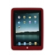 Silicon Case Donker Rood voor Apple iPad